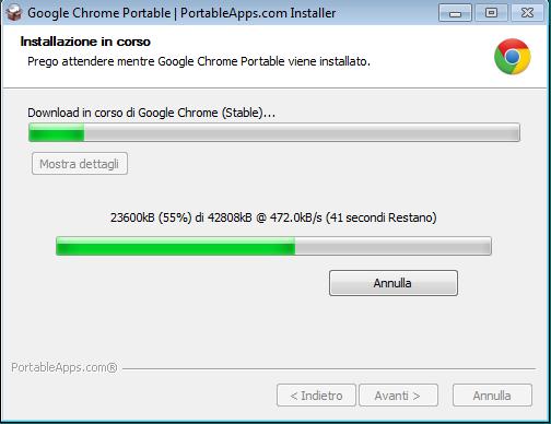 Installazione Google Chrome Portable su Token Namirial – Servizi